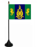 Logistic Regiment Desk / Table Flag with plastic stand and base.